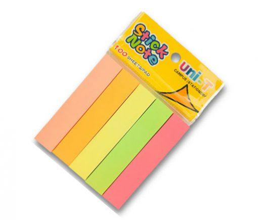 Giấy note 5 màu dạ quang Uni-T