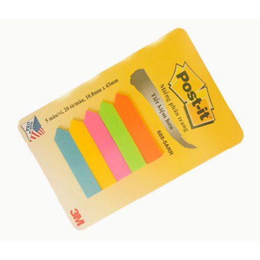 Giấy note (ghi chú) 5 màu nhựa 3M