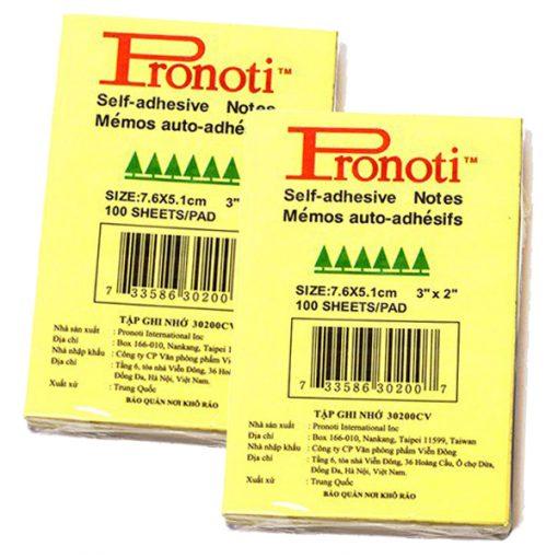 Giấy note vàng 3x2 Pronoti 4,9cmx7,6cm