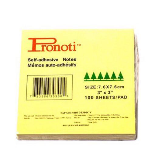 Giấy note vàng 3x3 Pronoti 7,6cmx7,6cm