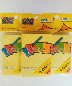 Giấy note vàng 3x2 Uni - T