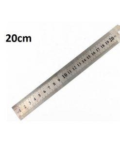Thước kẻ sắt 20cm (metal ruler)