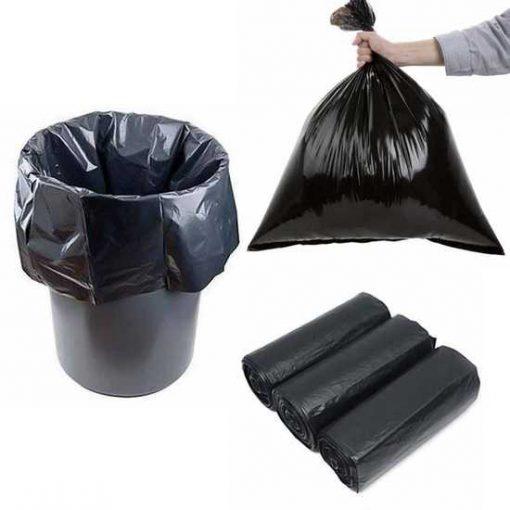 Bao rác 3 cuộn đen (size trung)