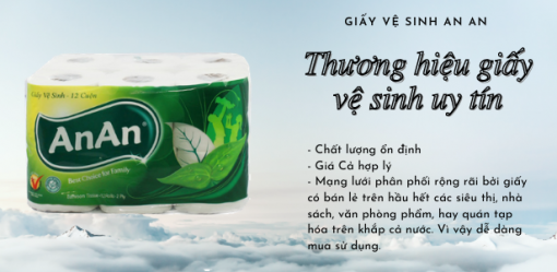 Giấy vệ sinh An An (rolled toilet paper)
