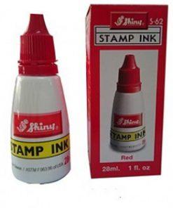 Mực con dấu chuyên dụng shiny đóng được trên mọi vật liệu trơn hoặc nhám Màu sắc: xanh, đỏ, đen Thích hợp cho các con dấu văn phòng, cơ