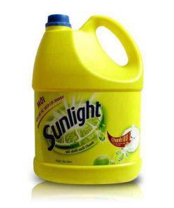 Nước rửa chén Sunlight can 4kg