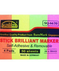 Giấy note 4 màu 2x5cm Suremark