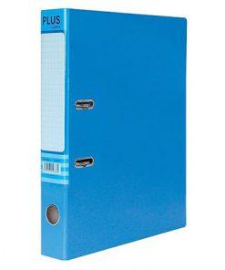 Bìa còng Plus F4 7cm 1 mặt si_xanh lam