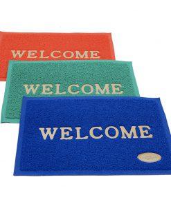 Thảm Welcome các màu đỏ, xanh lá, xanh dương