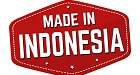 Made in Indonesia label or sticker on white background, vector illustration