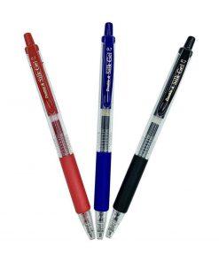 Bút bi mực gel Double A ngòi 0.7mm_xanh đỏ đen