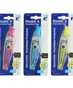 Bút xóa kéo thông minh Double A - E065_xanh hồng vàng