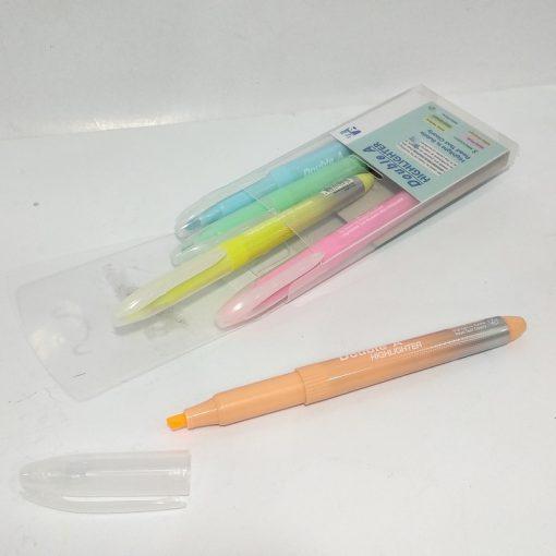 Vỉ 5 cây bút dạ quang Double A màu dịu_1